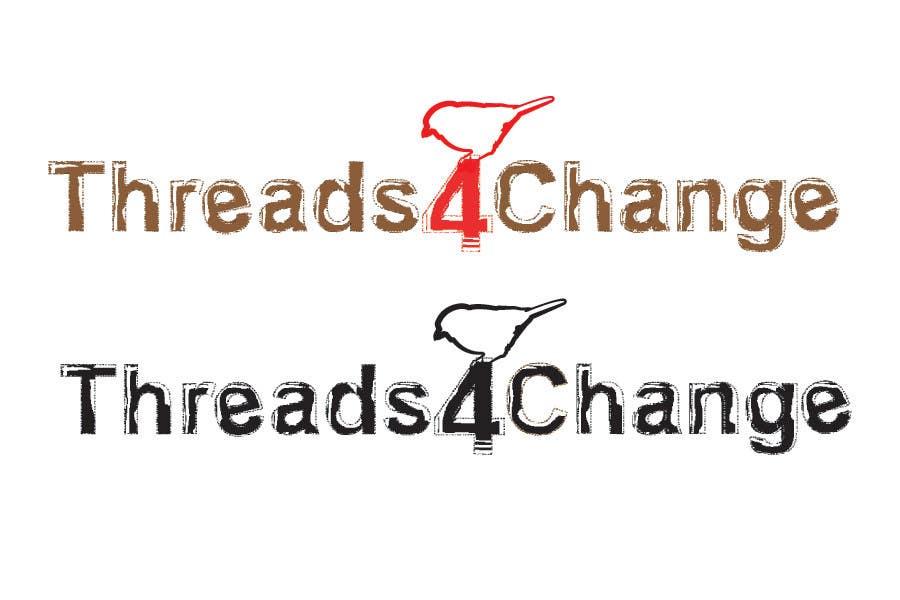 Kilpailutyö #107 kilpailussa Logo Design for Threads4Change