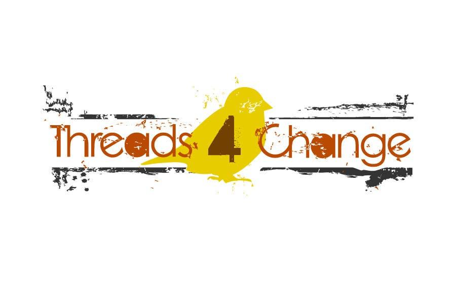 Kilpailutyö #114 kilpailussa Logo Design for Threads4Change