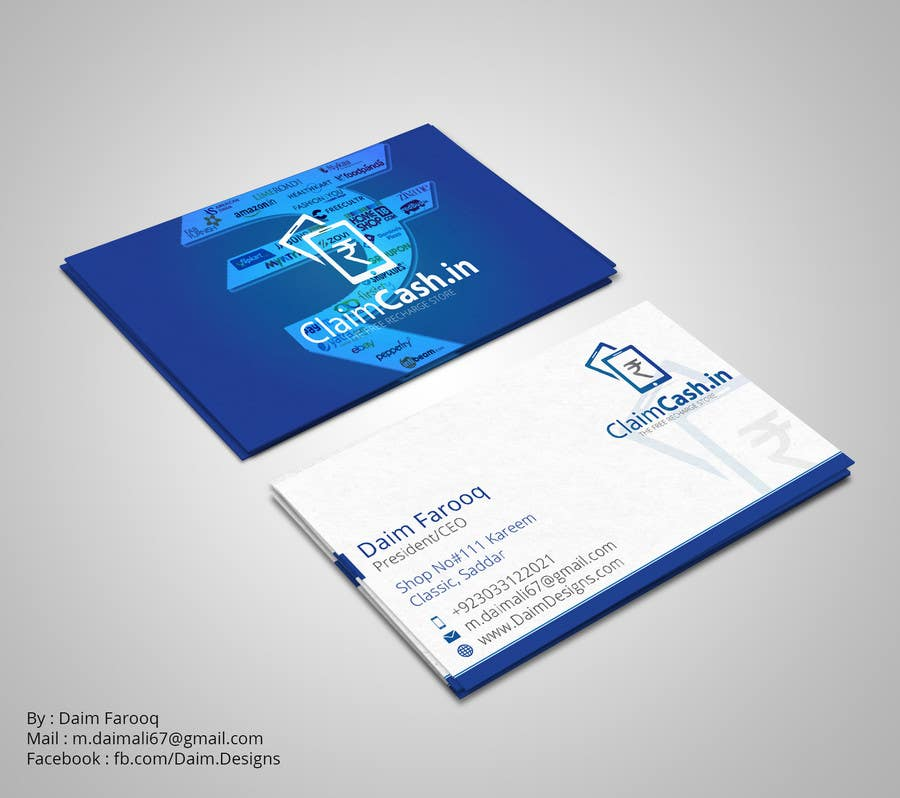 Entry #11 by DaimDesigns for Design a Visiting Card/Business card ...