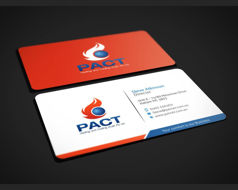Entry #3 by dnoman20 for Design some Business Cards for HVAC ...