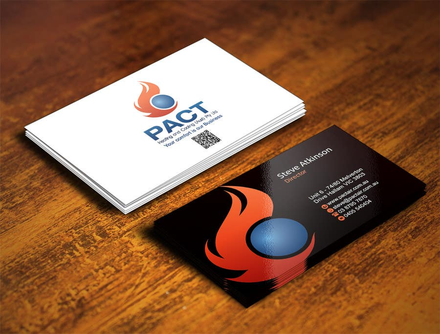 Entry #179 by IllusionG for Design some Business Cards for HVAC ...