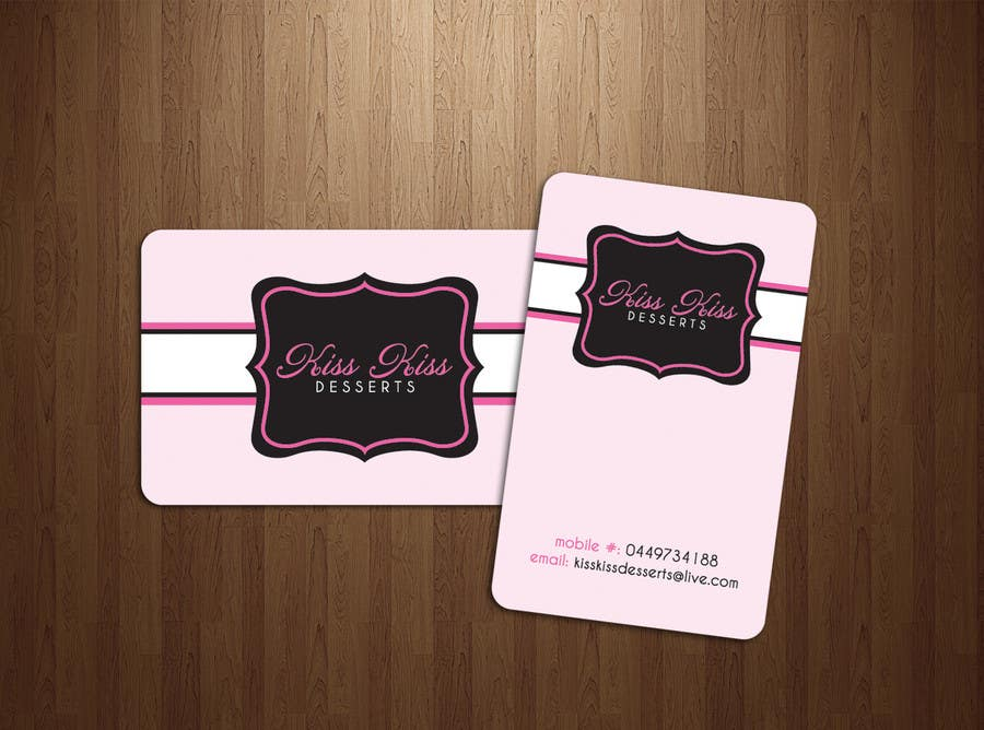Contest Entry #                                        218                                      for                                         Business Card Design for Kiss Kiss Desserts