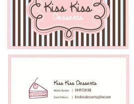 #151 para Business Card Design for Kiss Kiss Desserts de suejan3