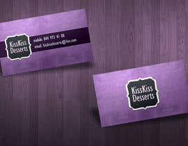 #79 para Business Card Design for Kiss Kiss Desserts de csoxa