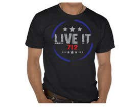 #33 for Live it 712 T-shirt design by watzinglee