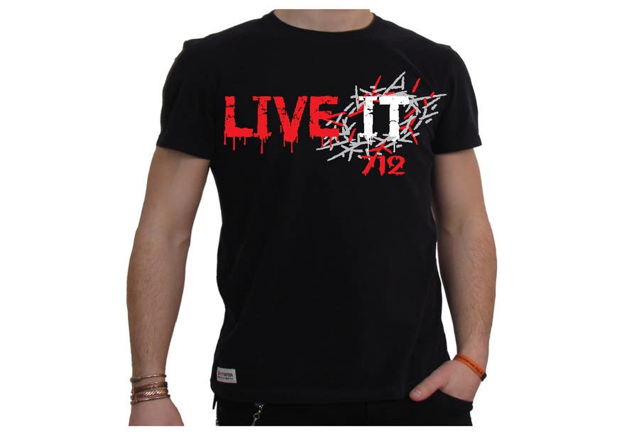#53 for Live it 712 T-shirt design by watzinglee