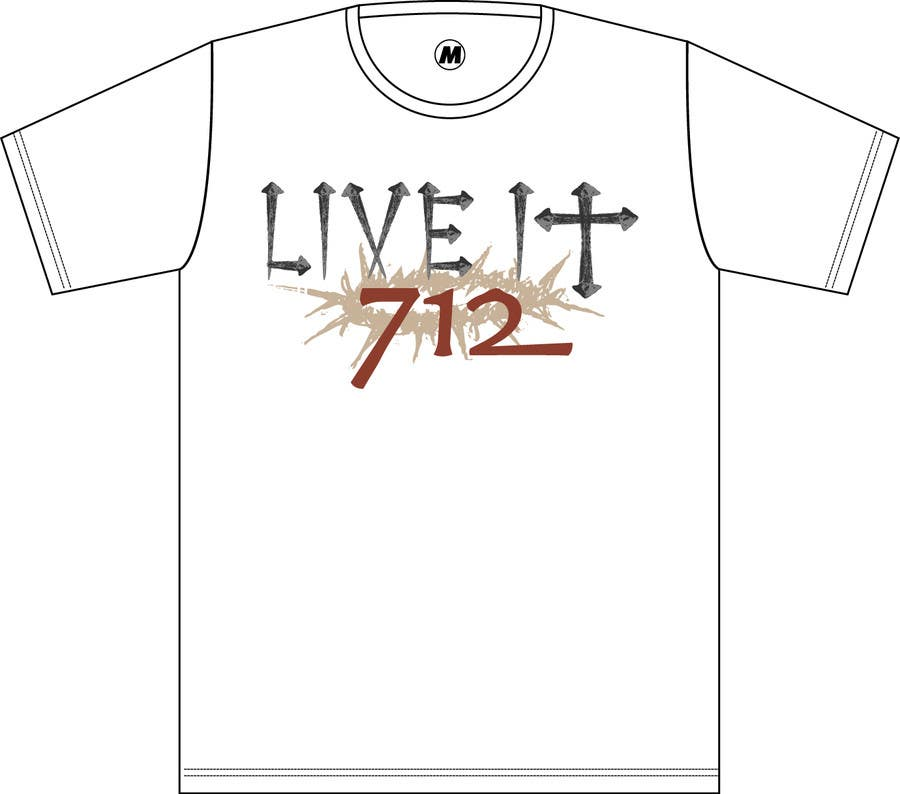 #113 for Live it 712 T-shirt design by Meximilian