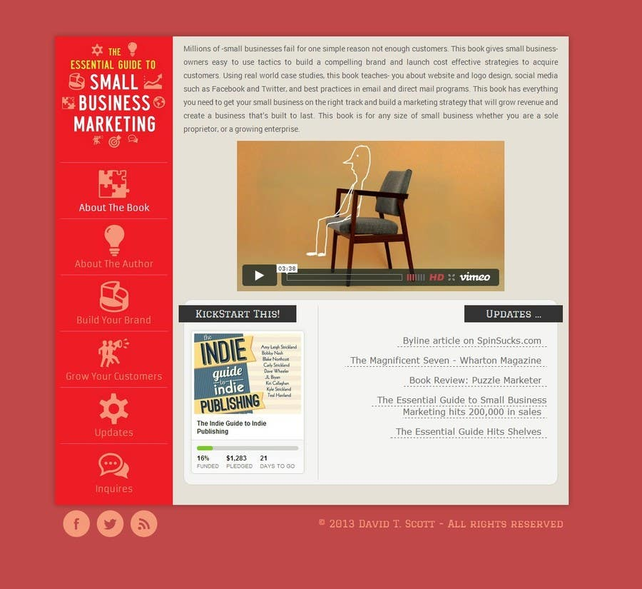 #13 for Build a Website for my new book! by thumperca