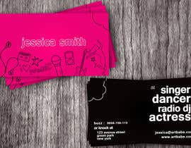 #7 para Design some Business Cards for an Artist who Sing, Dance, Act, Voice Over, Performing Art por amitpadal