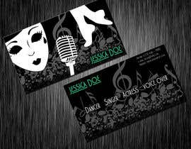 #12 para Design some Business Cards for an Artist who Sing, Dance, Act, Voice Over, Performing Art por hollyfisch