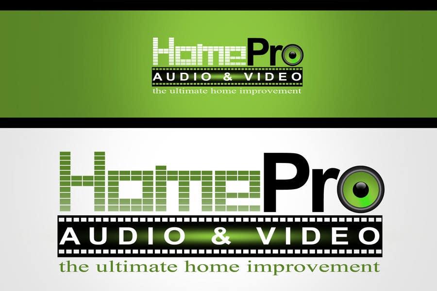 Kilpailutyö #321 kilpailussa Logo Design for HomePro Audio & Video