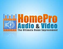 #336 pentru Logo Design for HomePro Audio & Video de către shrustifx