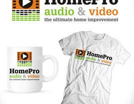 #216 untuk Logo Design for HomePro Audio & Video oleh santarellid