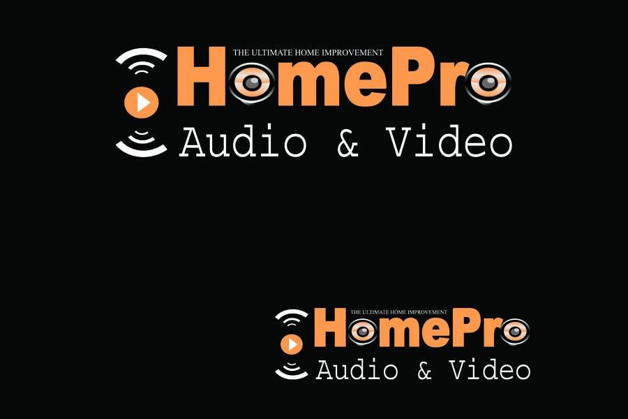 Bài tham dự cuộc thi #                                        152                                      cho                                         Logo Design for HomePro Audio & Video