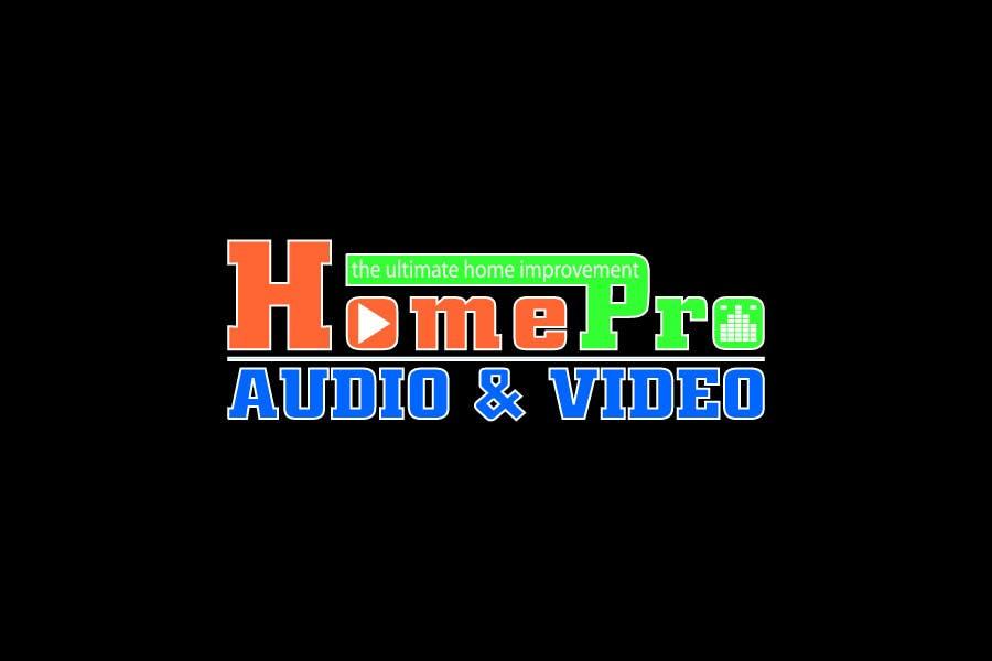 Bài tham dự cuộc thi #                                        351                                      cho                                         Logo Design for HomePro Audio & Video