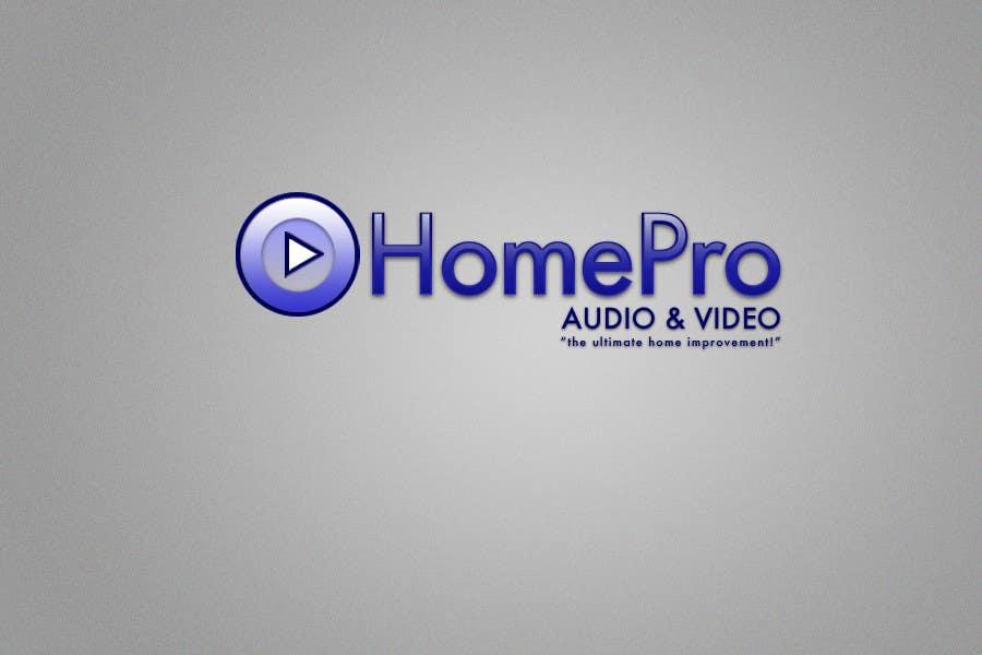 Bài tham dự cuộc thi #                                        22                                      cho                                         Logo Design for HomePro Audio & Video