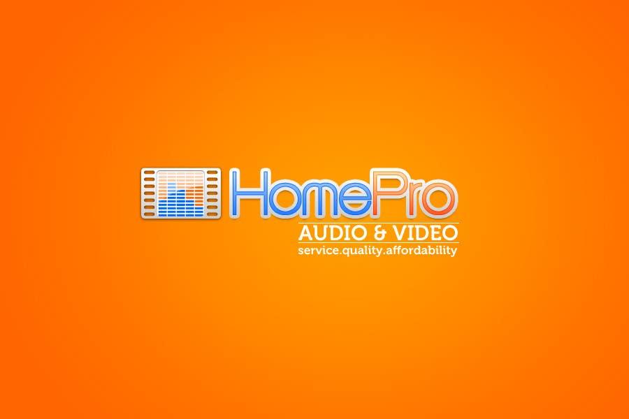 Bài tham dự cuộc thi #                                        224                                      cho                                         Logo Design for HomePro Audio & Video