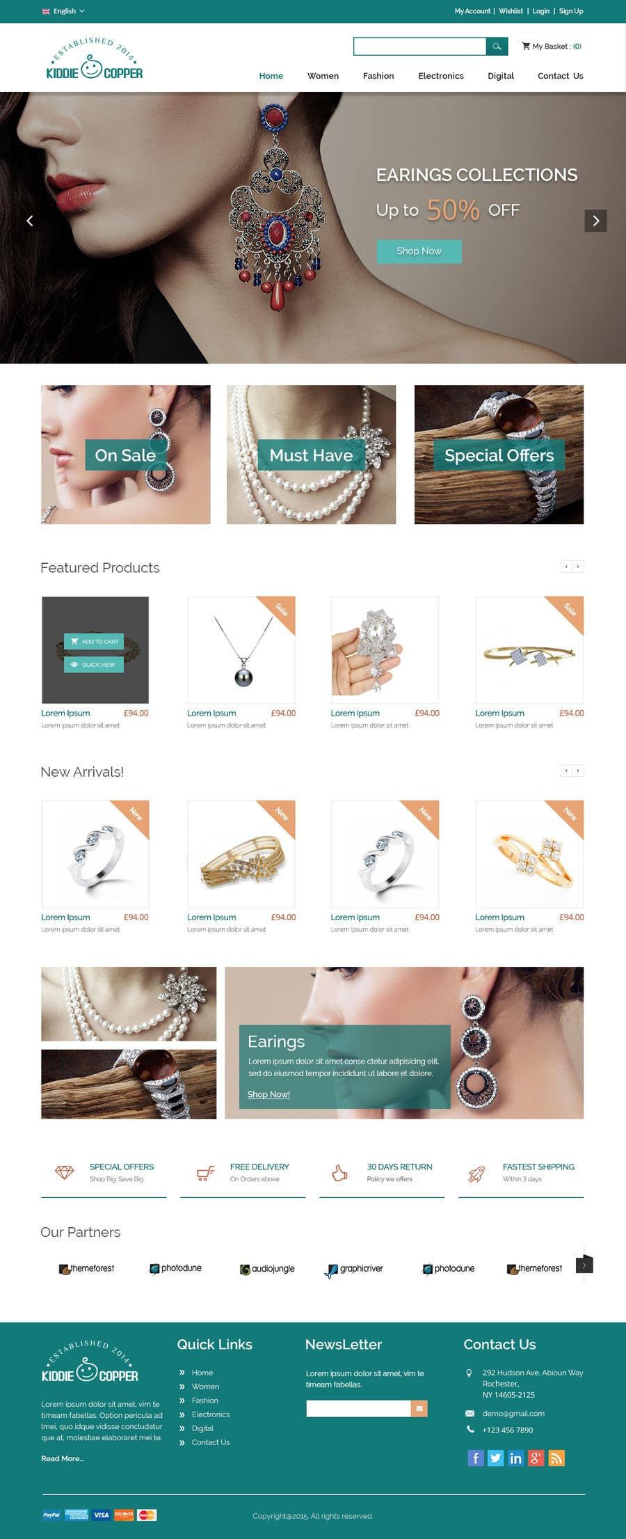 Website Mockup And Magento Template Freelancer - Photo contest website template