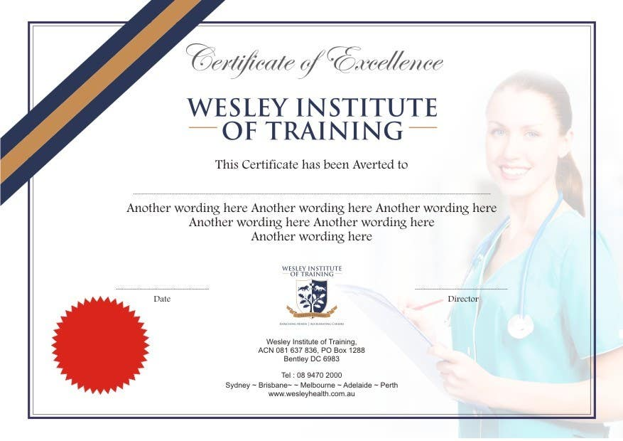Design a Certificate of Excellence – Certificate of Excellence Wording