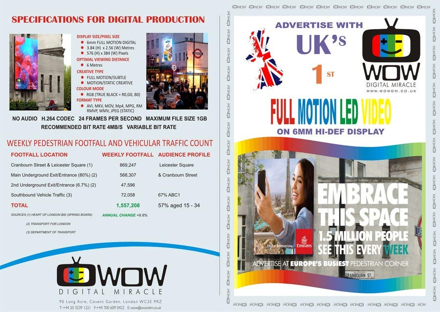 #13 for Design a Brochure for Wow Digital Miracle by sriharshag
