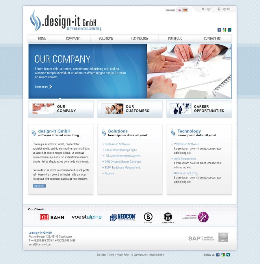 Конкурсная заявка №28 для Website Design for .design-it GmbH - software.internet.consulting