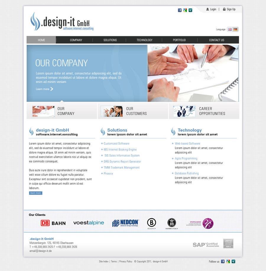 Конкурсная заявка №25 для Website Design for .design-it GmbH - software.internet.consulting