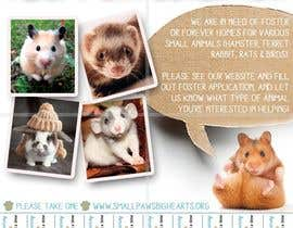 #59 for Design a Flyer for a small animal rescue af RonRamores
