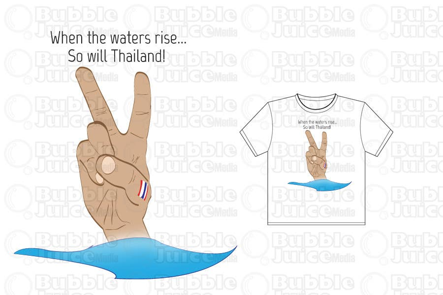 Participación en el concurso Nro.4 para T-Shirt Design for Thai Flood Victims