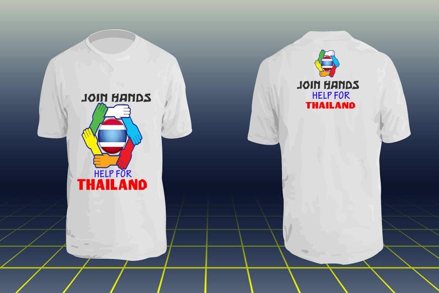 Participación en el concurso Nro.57 para T-Shirt Design for Thai Flood Victims