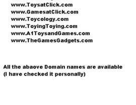 #54 cho Domain name for website selling Toys and Games products bởi asifkhan268