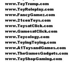 #100 para Domain name for website selling Toys and Games products por asifkhan268