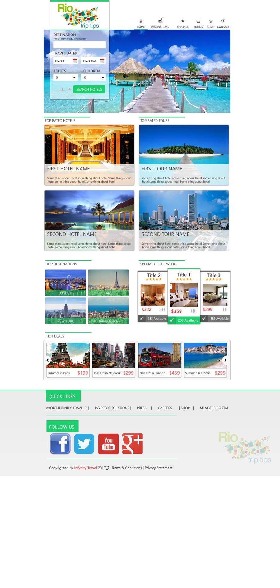 #5 for Create a Website Layout for a Tourism Company by dinhnp
