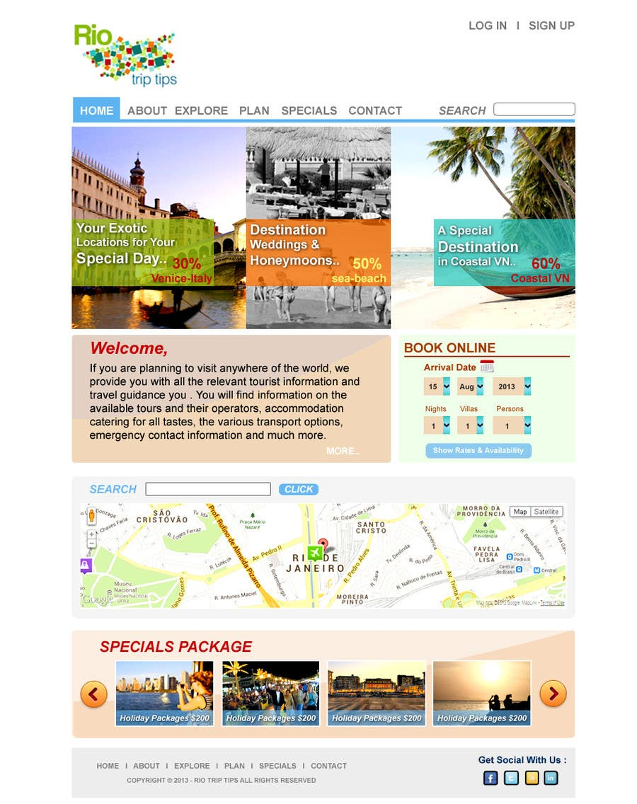 #9 for Create a Website Layout for a Tourism Company by suvra4ever