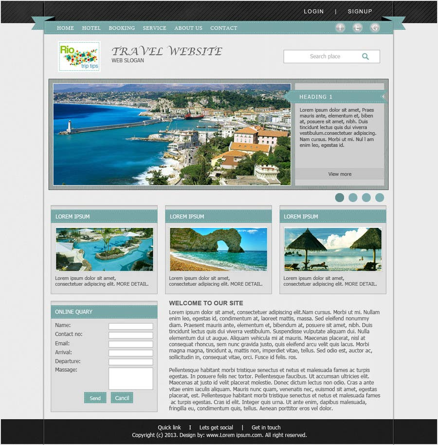 #8 for Create a Website Layout for a Tourism Company by santanubera9