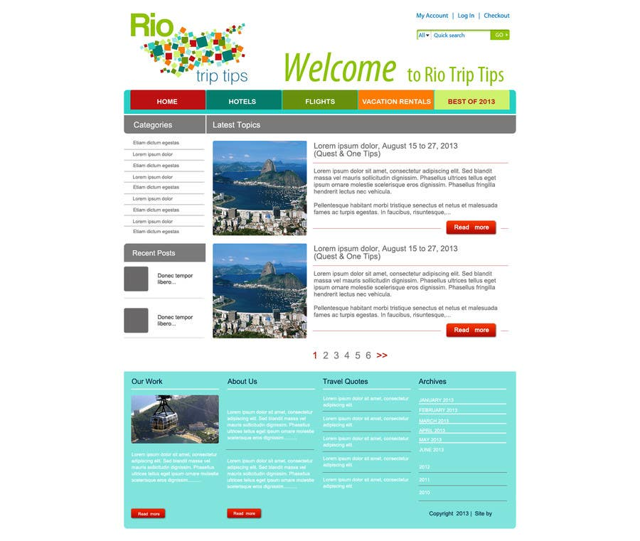 #14 for Create a Website Layout for a Tourism Company by grafixeu