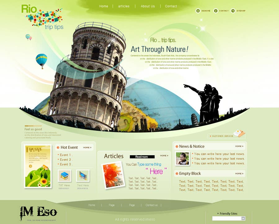 #12 for Create a Website Layout for a Tourism Company by imeso