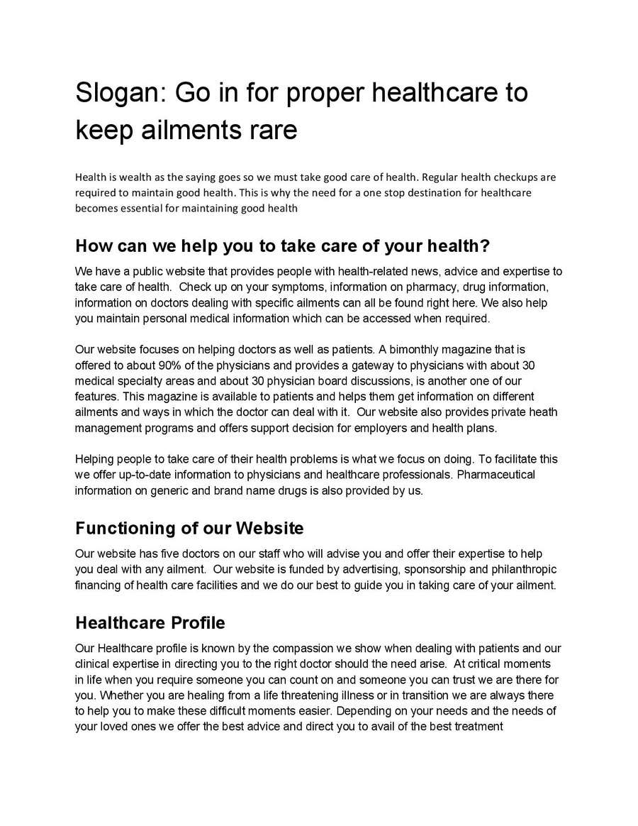 Entry #23 by ClaraSouza for Health Services Add compaings stories