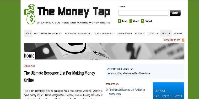 Penyertaan Peraduan #70 untuk Design a Logo for my online Blog: The Money Tap