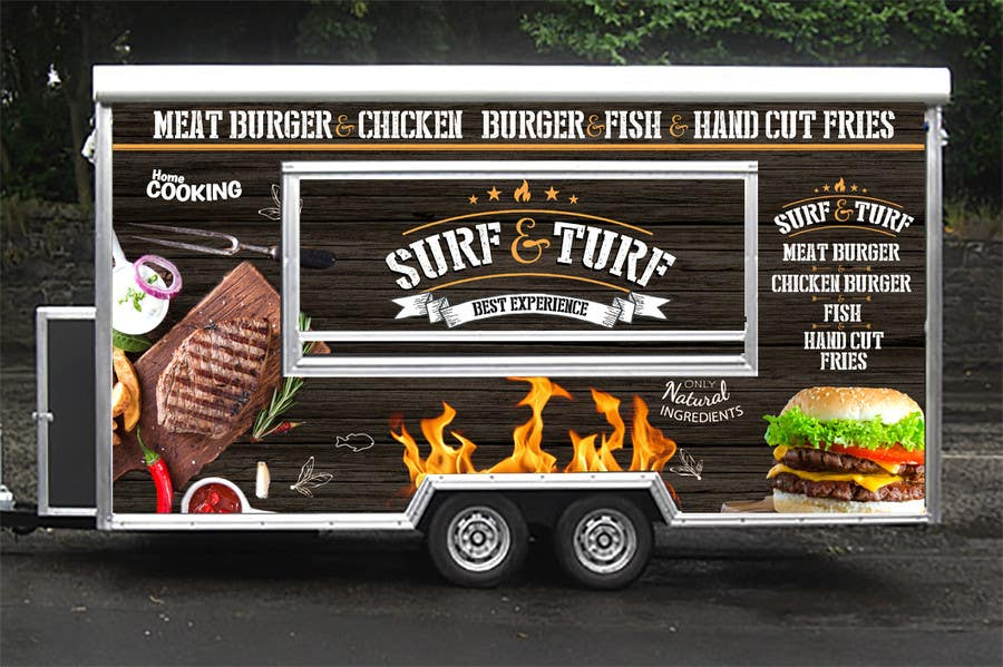 Entry 26 by usagip for food truck design freelancer for Food truck blueprint