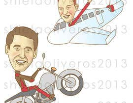nº 12 pour Design Caricatures/Cartoons for a travel blog par shielaoliveros
