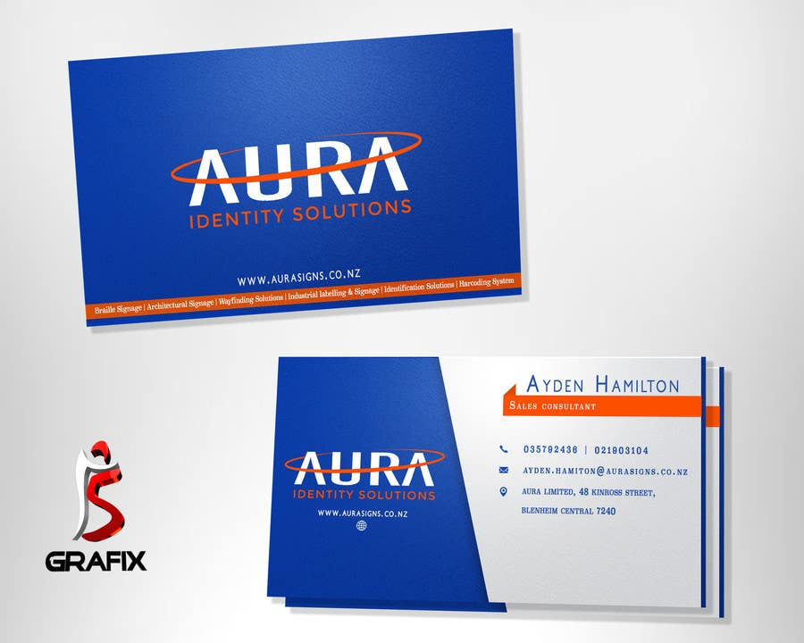 Entry 111 by i5grafix for design new aura business card 2 contest entry 111 for design new aura business card 2 reheart Images