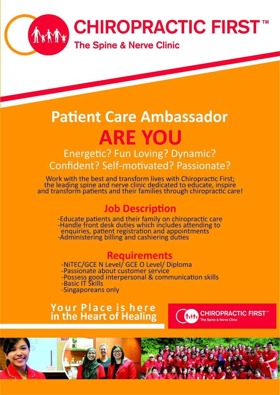 Poster design job description - Contest Entry 2 For A4 Recruitment Poster Design