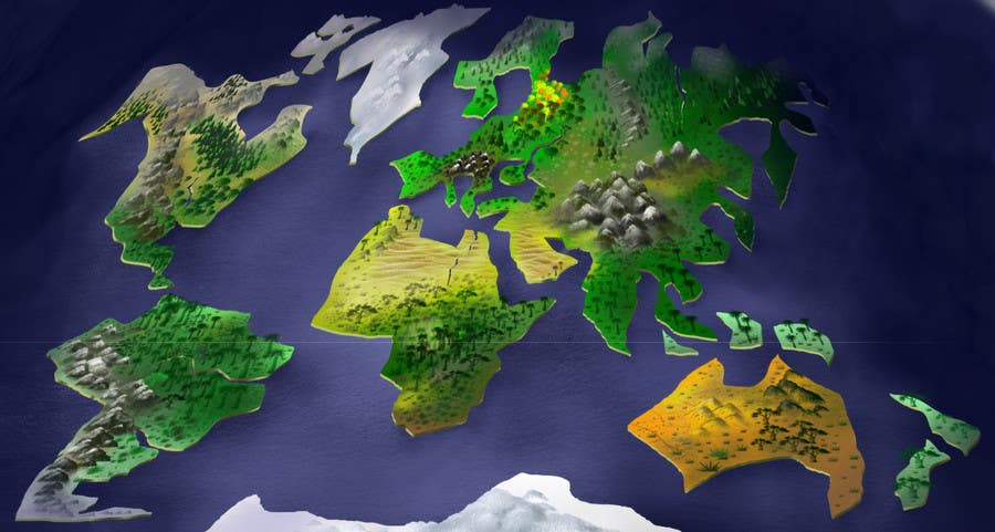Entry #16 by sevatan for Anime Type World Map | Freelancer