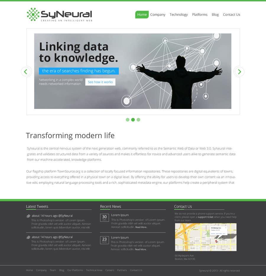 Bài tham dự cuộc thi #                                        14                                      cho                                         Design a Website Mockup for SyN