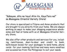 #9 for Write a tag line/slogan and content for a Specialist Philippine Grocery Store af JosephMarinas