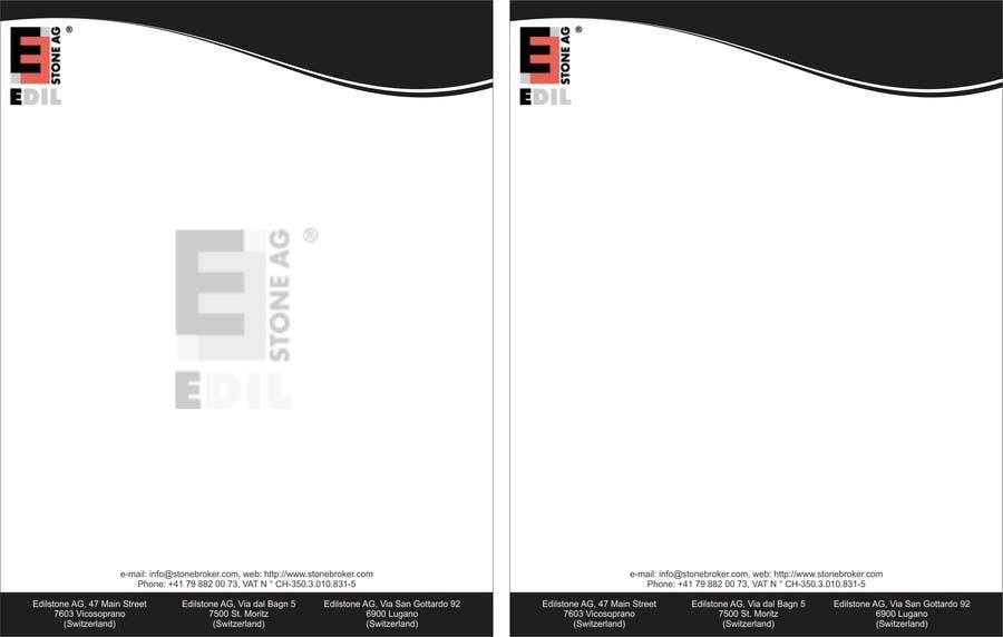 Entry 25 By Adnanjathar For Design Of The Letterhead