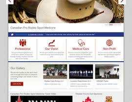 #3 untuk Design a Website Mockup for Western/Cowboy sports med - AND - Renovations oleh JosephNgo