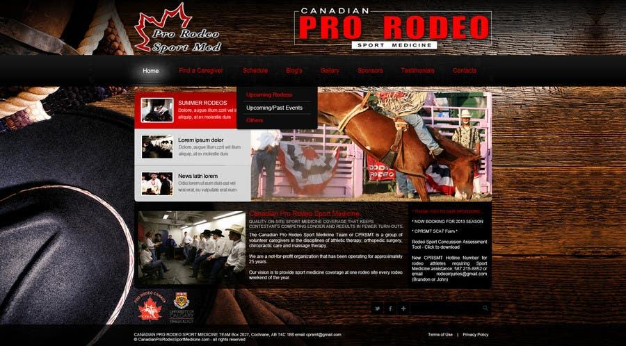 Kilpailutyö #19 kilpailussa Design a Website Mockup for Western/Cowboy sports med - AND - Renovations