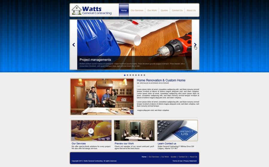 Kilpailutyö #20 kilpailussa Design a Website Mockup for Western/Cowboy sports med - AND - Renovations
