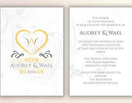 #26 for Design my wedding invite & logo! by laurentiufilon